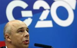 Russia's Finance Minister Anton Siluanov attends a news conference, part of the G20 finance ministers and central bank governors' meeting, in Moscow, July 19, 2013. REUTERS/Grigory Dukor