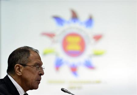 Russia's Foreign Minister Sergey Lavrov speaks during the Association of Southeast Asian Nations (ASEAN) - Russia Ministerial Meeting at the 46th ASEAN Foreign Ministers Meeting in Bandar Seri Begawan July 1, 2013 file photo. REUTERS/Ahim Rani