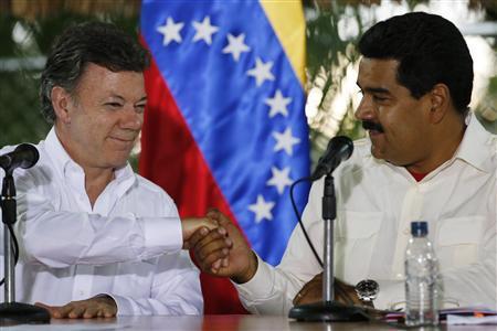 Venezuelan, Colombian presidents put aside diplomatic dispute