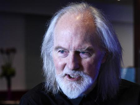 British musician Roy Harper speaks to a reporter during an interview in London in this picture provided by Joshua Gaunt taken July 19, 2013. REUTERS/Joshua Gaunt/Handout via Reuters