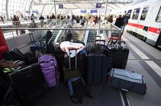 File photo of luggage on a platform at the Hauptbahnhof main railway station in Berlin March 4, 2011. REUTERS/Fabrizio Bensch/Files