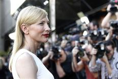 """Cast member Cate Blanchett poses at the premiere of """"Blue Jasmine"""" at the Academy of Motion Pictures Arts and Sciences in Beverly Hills, California July 24, 2013. The movie opens in the U.S. on July 26. REUTERS/Mario Anzuoni"""