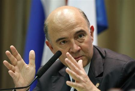 France's Finance Minister Pierre Moscovici attends a news conference, part of the G20 finance ministers and central bank governors' meeting, in Moscow, July 19, 2013. REUTERS/Grigory Dukor