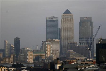 The Canary Wharf financial district is seen in east London February 28, 2013. REUTERS/Stefan Wermuth
