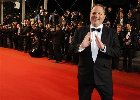 Producer Harvey Weinstein poses on the red carpet as he arrives for the screening of the film ''Only God Forgives'' in competition during the 66th Cannes Film Festival in Cannes May 22, 2013. REUTERS/Eric Gaillard