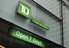The outside of a TD Bank branch is seen in New York January 17, 2012. REUTERS/Shannon Stapleton