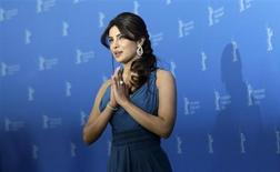 "Cast member Priyanka Chopra poses during a photocall to promote the movie ""Don - The King is back"" at the 62nd Berlinale International Film Festival in Berlin February 10, 2012. REUTERS/Thomas Peter"