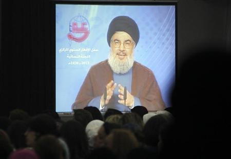 Hezbollah leader slams Israel in rare public speech