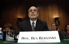 "Federal Reserve Board Chairman Ben Bernanke testifies before a Senate Banking, Housing and Urban Affairs Committee hearing on ""The Semiannual Monetary Policy Report to the Congress"" on Capitol Hill in Washington July 18, 2013. REUTERS/Kevin Lamarque"