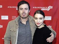 """Cast members Casey Affleck and Rooney Mara pose at the premiere of """"Ain't Them Bodies Saints"""" during the Sundance Film Festival in Park City, Utah in this file photo taken January 20, 2013. REUTERS/Mario Anzuoni/Files"""
