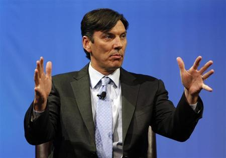 Chairman and CEO of AOL Tim Armstrong speaks during a panel session at The Cable Show in Boston, Massachusetts May 21, 2012. REUTERS/Jessica Rinaldi