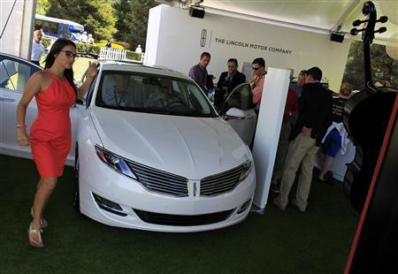 A Lincoln MKZ sedan is displayed during The Quail, A Motorsports Gathering, in Carmel, California, August 16, 2013. REUTERS/Michael Fiala