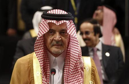 Saudi Arabia's Foreign Minister Prince Saud al-Faisal attends the opening of an Arab League meeting in Cairo March 6, 2013. REUTERS/Mohamed Abd El Ghany