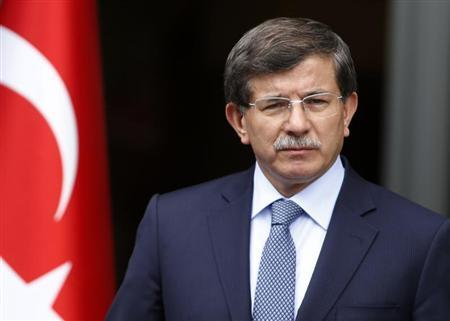 Turkey's Foreign Minister Ahmet Davutoglu addresses the media in Ankara June 13, 2013. REUTERS/Umit Bektas