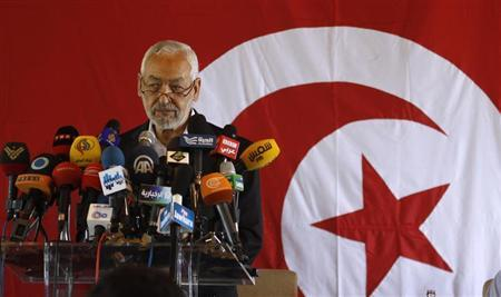 Rached Ghannouchi, leader of the Islamist Ennahda movement, speaks during a news conference in Tunis August 15, 2013. REUTERS/ Zoubeir Souissi