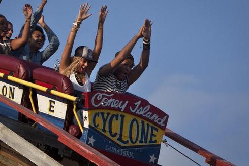 Beyonce at Coney Island