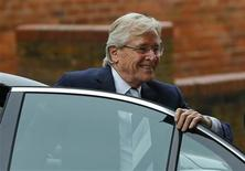 British actor William Roache, who plays the character of Ken Barlow in the soap opera Coronation Street, arrives for a hearing at Preston Crown Court in Preston, northern England September 2, 2013. Roache is charged with rape and indecent assault. REUTERS/Phil Noble