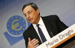 European Central Bank (ECB) President Mario Draghi addresses the monthly ECB news conference in Frankfurt August 1, 2013. REUTERS/Ralph Orlowski