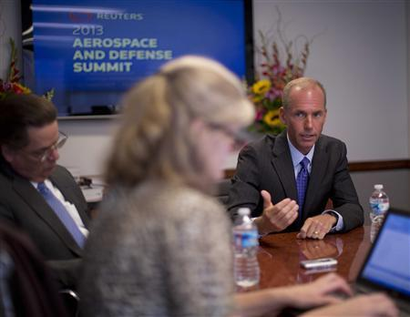Boeing Defense, Space and Security CEO Dennis Muilenburg is pictured at the Reuters Aerospace and Defense Summit in Washington, September 3, 2013. REUTERS/Jason Reed