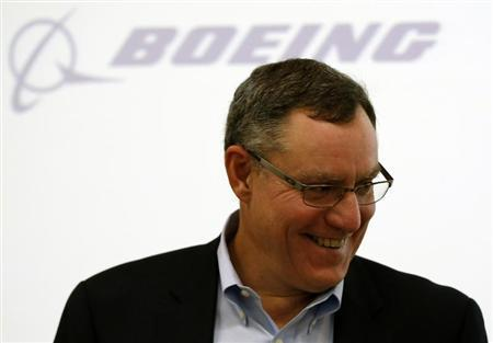 Scott Fancher, Boeing Commercial Airplanes vice president and general manager, head of aircraft development, attends a news conference on their airplane development update in Tokyo August 2, 2013. REUTERS/Issei Kato