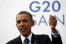 U.S. President Barack Obama speaks during a news conference at the G20 Summit in St. Petersburg, Russia September 6, 2013. REUTERS/Kevin Lamarque
