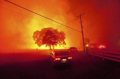 Fire near Mount Diablo