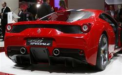 A Ferrari 458 Speciale car is pictured during a media preview day at the Frankfurt Motor Show (IAA) September 10, 2013. REUTERS/Wolfgang Rattay