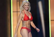 Miss Kansas, Theresa Vail, is seen on stage during the bathing suit portion of the preliminary round of the Miss America pageant in Atlantic City, New Jersey, in this September 10, 2013, file photo. REUTERS/Carlo Allegri/Files
