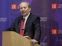 """Former U.S. Treasury Secretary Lawrence H. """"Larry"""" Summers speaks during a financial and economic event at the London School of Economics (LSE) in London March 25, 2013. REUTERS/Jason Alden/POOL"""