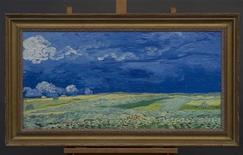 """A copy of the Vincent Van Gogh painting """"Wheatfield under Thunderclouds"""" (1890) is seen in this handout photo provided by the Van Gogh Museum in Amsterdam to Reuters on September 11, 2013. REUTERS/Relievo, Wheatfield under Thunderclouds. Van Gogh Museum Amsterdam/Handout via Reuters"""