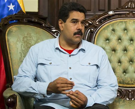 Venezuela's President Nicolas Maduro attends a meeting with South Africa's Foreign Minister Maite Nkoana-Mashabane in Caracas September 19, 2013. REUTERS/Carlos Garcia Rawlins