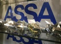 Assa Abloy locks are displayed in a shop in Riga, September 19, 2013. REUTERS/Ints Kalnins