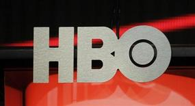 The logo for HBO, Home Box Office, the American premium cable television network, owned by Time Warner, is pictured during the HBO presentation at the Cable portion of the Television Critics Association Summer press tour in Beverly Hills, California August 1, 2012. REUTERS/Fred Prouser
