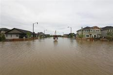 Home are still under water a week after major flooding hit High River, Alberta, June 29, 2013. REUTERS/Todd Korol