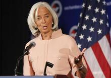 International Monetary Fund Managing Director Christine Lagarde delivers remarks during a Peterson Institute for International Economics forum at the U.S. Chamber of Commerce in Washington, September 19, 2013. REUTERS/Jonathan Ernst