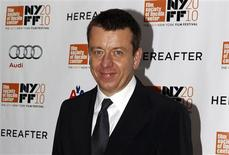 "Screenwriter Peter Morgan arrives at the closing night screening of ""Hereafter"" at the 48th New York Film Festival October 10, 2010. REUTERS/Jessica Rinaldi"