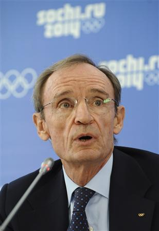 Jean-Claude Killy, head of the IOC coordination commission to monitor progress for the Sochi 2014 Winter Olympics, attends a news conference on the results of the 10th visit of the IOC Coordination Commission in Sochi September 26, 2013. REUTERS/Nina Zotina