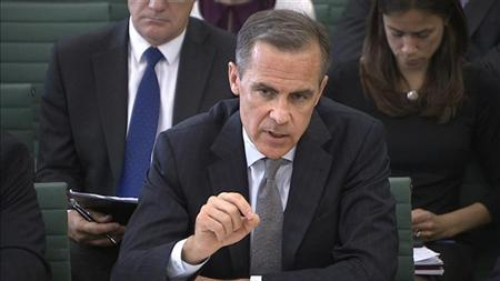 The Governor of the Bank of England Mark Carney speaks to parliament's Treasury Committee in this still image taken from video in Westminster, London, September 12, 2013. REUTERS/UK Parliament via Reuters TV