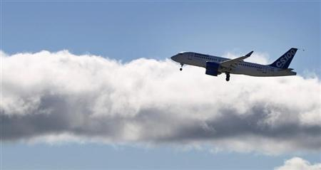 Bombardier's CSeries aircraft takes off for its first test flight in Mirabel, Quebec, September 16, 2013. REUTERS/Christinne Muschi