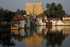 A view of Sree Padmanabhaswamy temple in Thiruvananthapuram, capital of the southern Indian state of Kerala, February 20, 2012. REUTERS/Danish Siddiqui