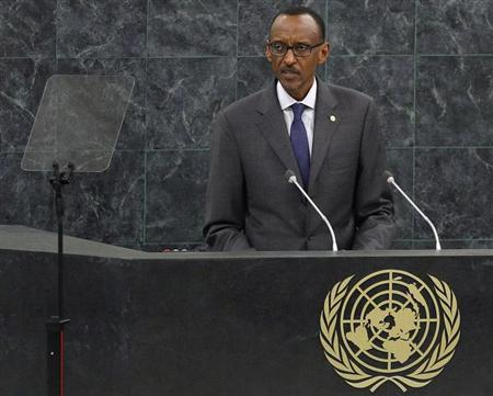 Rwanda's President Paul Kagame addresses the 68th United Nations General Assembly at UN headquarters in New York, September 25, 2013. REUTERS/Adam Hunger