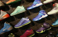 Shoes are displayed in the Nike store in Santa Monica, California, September 25, 2013. REUTERS/Lucy Nicholson