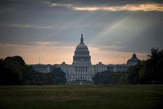 The U.S. Capitol building is seen on Tuesday morning after the federal government was shutdown when the House and Senate failed to pass a budget in Washington October 1, 2013. REUTERS/James Lawler Duggan