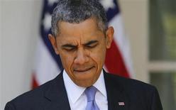 O presidente dos Estados Uunidos, Barack Obama, fala sobre seguros de saúde no Gramado Sul da Casa Branca, em Washington. 01/10/2013 REUTERS/Larry Downing