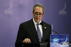 U.S. Trade Representative Michael Froman speaks during a news conference during the Asia Pacific Economic Cooperation (APEC) ministerial meeting in Nusa Dua, Bali island October 5, 2013. REUTERS/Beawiharta