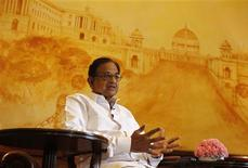 India's Finance Minister Palaniappan Chidambaram speaks during an interview with Reuters in New Delhi October 7, 2013. REUTERS/Anindito Mukherjee