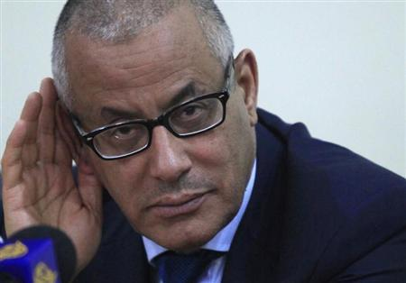 Libya's Prime Minister Ali Zaidan gestures during a news conference in Benghazi June 16, 2013. REUTERS/Esam Al-Fetori