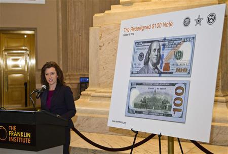 U S  Fed ships new $100 bills with anti-counterfeit features
