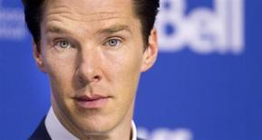 "Actor Benedict Cumberbatch attends a news conference for the film ""The Fifth Estate"" at the 38th Toronto International Film Festival (TIFF) in Toronto September 6, 2013. REUTERS/Fred Thornhill"