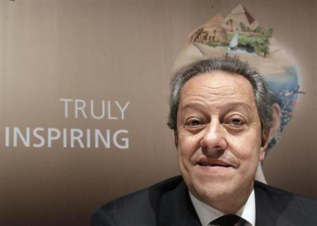 Egypt's Tourism Minister Mounir Fakhry Abdel Nour attends a news conference on the upcoming international travel trade show (ITB) in Berlin, in this March 6, 2012 file photo. REUTERS/Tobias Schwarz/Files